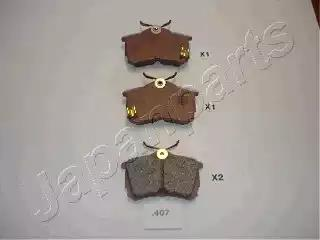 PP-407AF - Brake Pad Set, disc brake