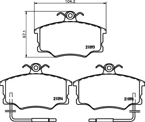 2109302 - Brake Pad Set, disc brake