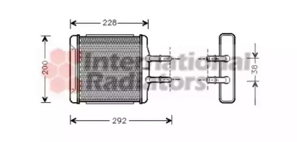 81006027 - Heat Exchanger, interior heating