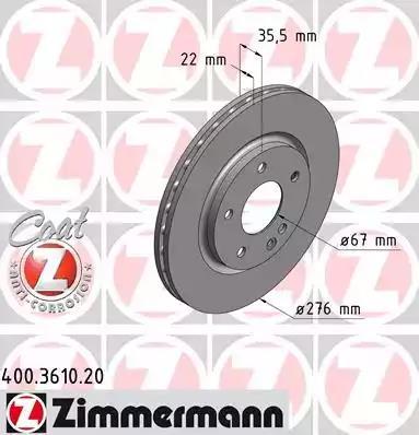 400.3610.20 - Brake Disc