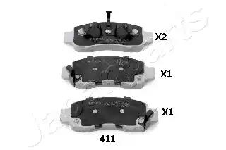PA-411AF - Brake Pad Set, disc brake