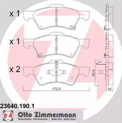 23640.190.1 - Brake Pad Set, disc brake