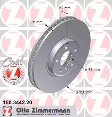 150.3442.20 - Brake Disc
