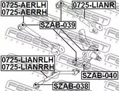 Control Arm-/Trailing Arm Bush