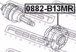 0882-B13MR - Wheel hub