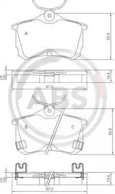 37175 - Brake Pad Set, disc brake
