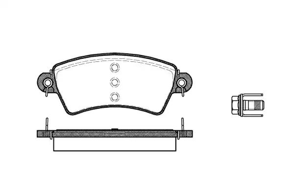 0726.00 - Brake Pad Set, disc brake