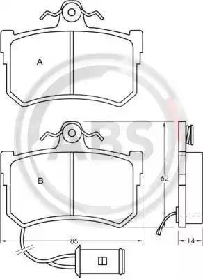 36645 - Brake Pad Set, disc brake