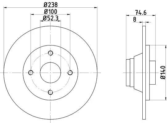 92081200 - Brake Disc