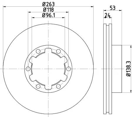 CVD695 - Brake Disc