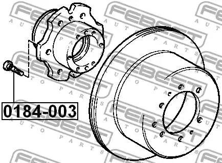 0184-003 - Wheel Stud