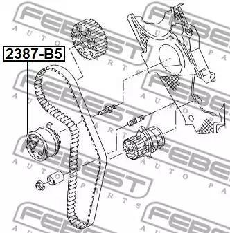 2387-B5 - Pingutusrull, Hammasrihm