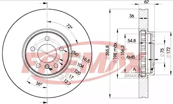 BD-5684 - Brake Disc