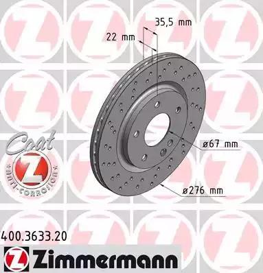 400.3633.20 - Brake Disc