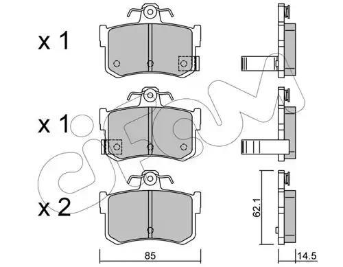 822-691-1 - Brake Pad Set, disc brake