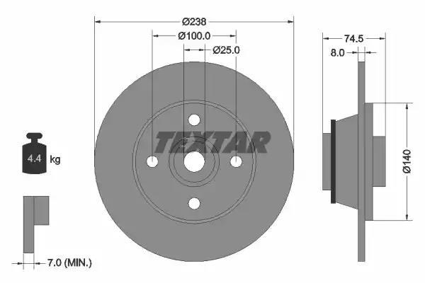 92154100 - Brake Disc