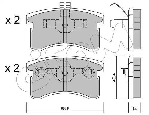 822-378-0 - Brake Pad Set, disc brake