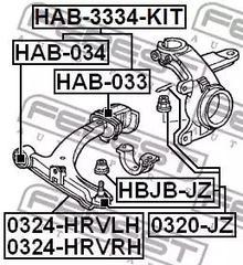FEBEST Control Arm-//Trailing Arm Bush HAB-034