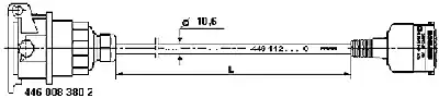 449 112 120 0 - Connecting Cable, ABS