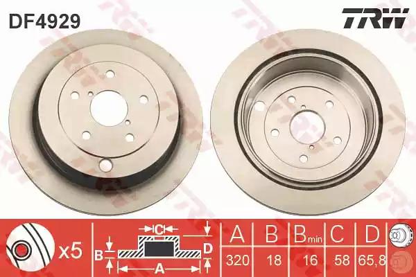 DF4929 - Brake Disc