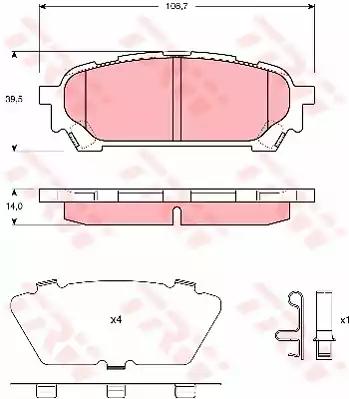 GDB3395 - Piduriklotsi komplekt, ketaspidur