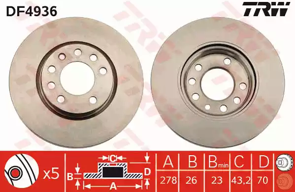 DF4936 - Brake Disc