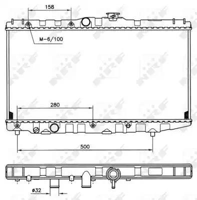 507581 - Radiator, engine cooling
