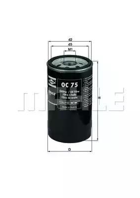 OC 75 - Oil filter
