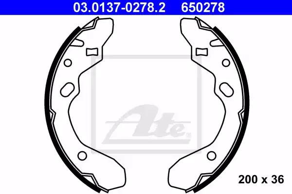 03.0137-0278.2 - Brake Shoe Set