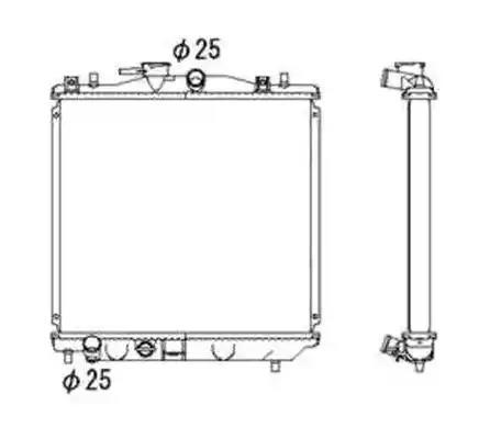 53701 - Radiaator, mootorijahutus