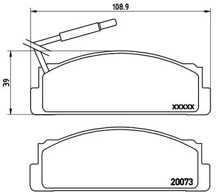 P 23 005 - Brake Pad Set, disc brake