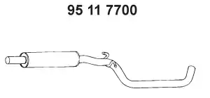 95 11 7700 - Middle Silencer