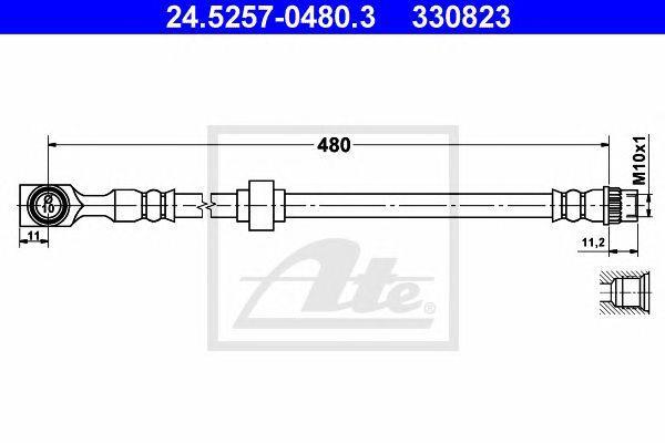24.5257-0480.3 - Brake Hose