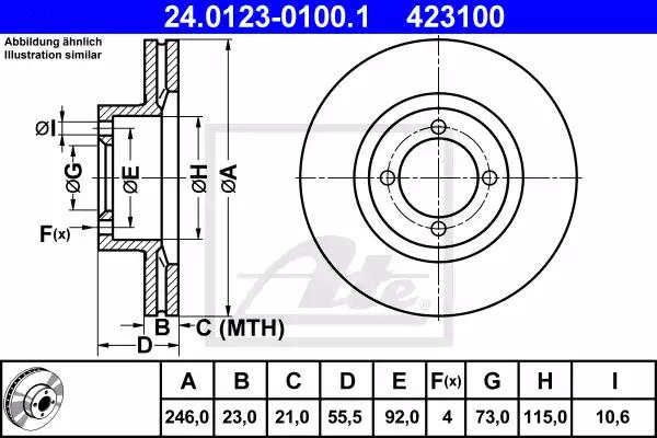 24.0123-0100.1 - Brake Disc