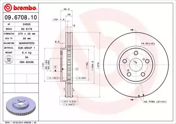 09.6708.10 - Brake Disc