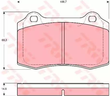 GDB1513 - Piduriklotsi komplekt, ketaspidur