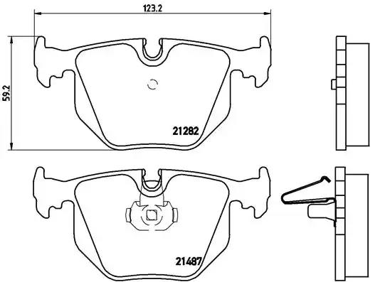 P 06 044 - Brake Pad Set, disc brake