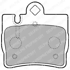 LP1697 - Brake Pad Set, disc brake