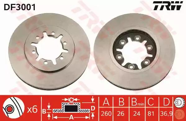 DF3001 - Brake Disc