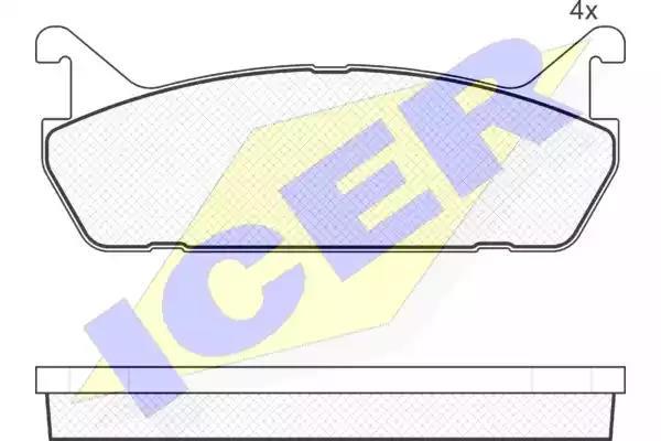 181186 - Brake Pad Set, disc brake