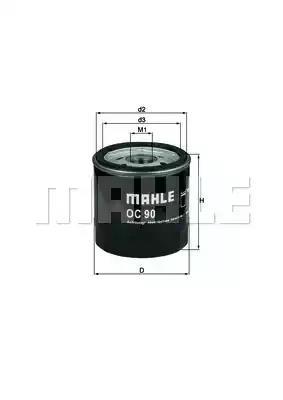 OC 90 OF - Oil filter