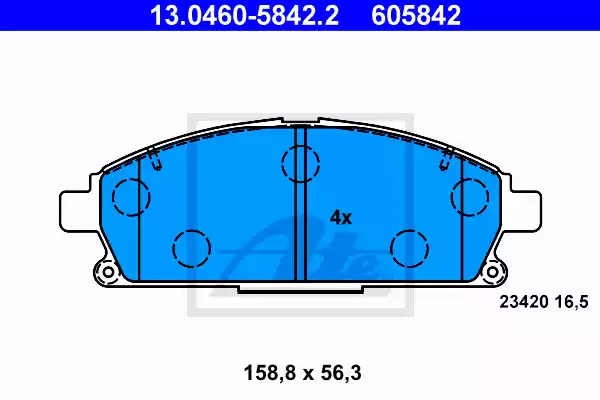 13.0460-5842.2 - Brake Pad Set, disc brake