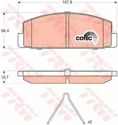 GDB3311 - Piduriklotsi komplekt, ketaspidur