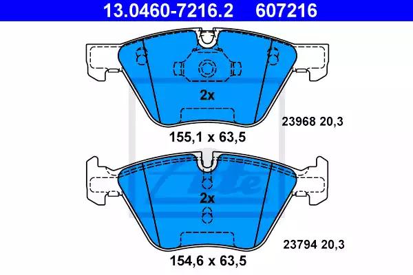 13.0460-7216.2 - Brake Pad Set, disc brake