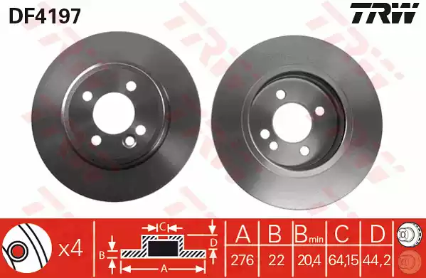 DF4197 - Brake Disc