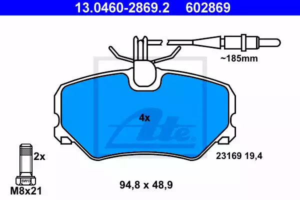 13.0460-2869.2 - Brake Pad Set, disc brake