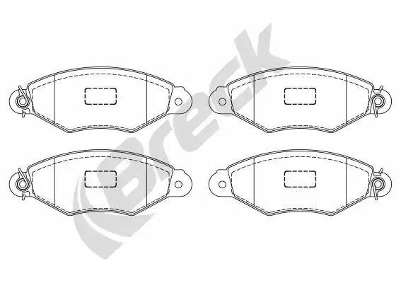 21980 00 702 00 - Brake Pad Set, disc brake