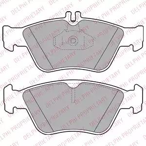 LP1588 - Brake Pad Set, disc brake