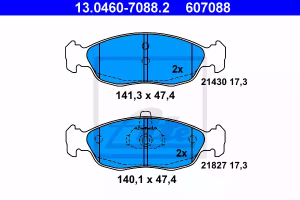 13.0460-7088.2 - Brake Pad Set, disc brake