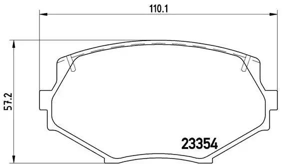 P 49 020 - Bromsbeläggssats, skivbroms